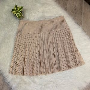 J. Crew Laser-Cut Pleated Skirt  NEW
